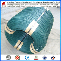 green /bule color pvc coated wire/wire hangers for sale