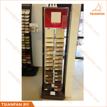 Double Sided Display Engineering Stone and Quartz Stone Display Stand for Stone Showroom Promotion