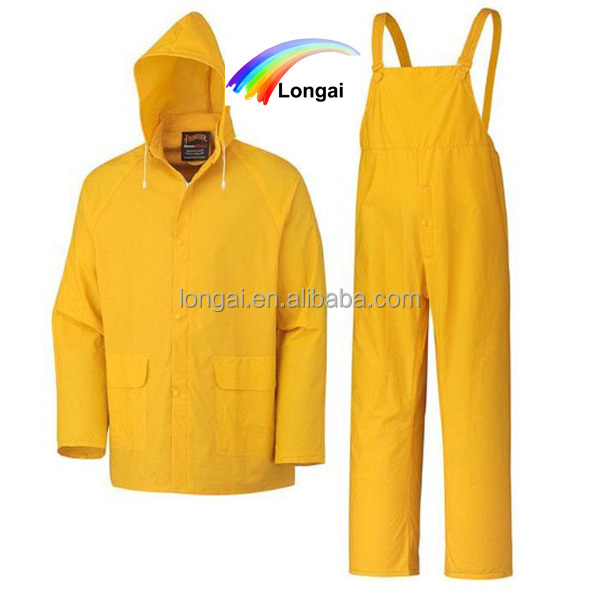 waterproof fishing yellow rubber raincoats for men
