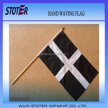 Large Hand Waving Courtesy Flag - Cornish County