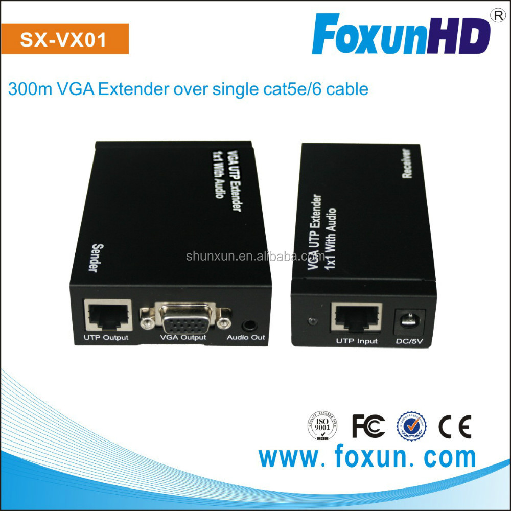 SHUNXUN OEM Wholesale 300m vga to utp extender over single cat5e/6 cable