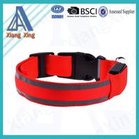 Nylon LED light flashing dog collar LED collars for dogs