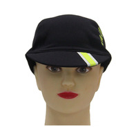 New arrival short flat brin black caps cycle hats custom cycling cap for outdoor activity