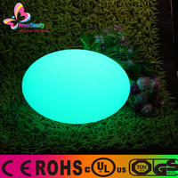 2015 Party Events Favorite Multi Color Waterproof Wireless LED Oval Ball Light with remote control