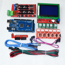3D Printer Kit for Mega 2560 R3 + RAMPS 1.4 Controller + LCD 12864 + 6 Limit Switch Endstop + 5 A4988 Stepper Driver