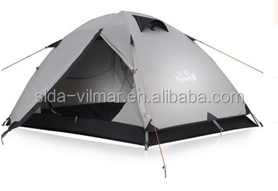 hot selling double layers waterproof camping tent for 3-4 persons