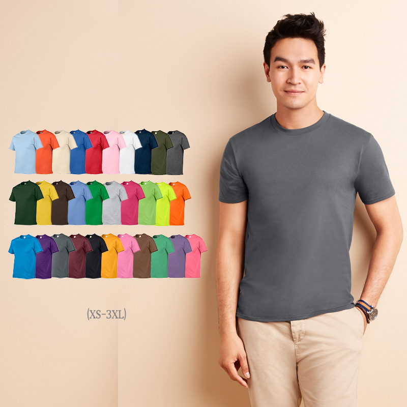 high quality 2017 summer OEM service print t shirt men 100% cotton various color short sleeve t shirt for men