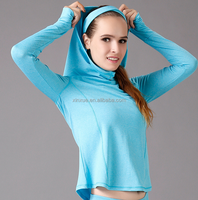 Long sleeve girl hoodie autumn winter girl yoga wear for outdoor sports for wholesale