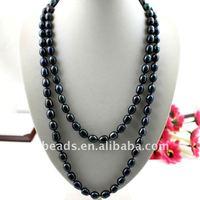 Large size black baroque pearl neckalce BPN006
