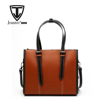 Factory wholesale newest design ladies leather shoulder bag handbag