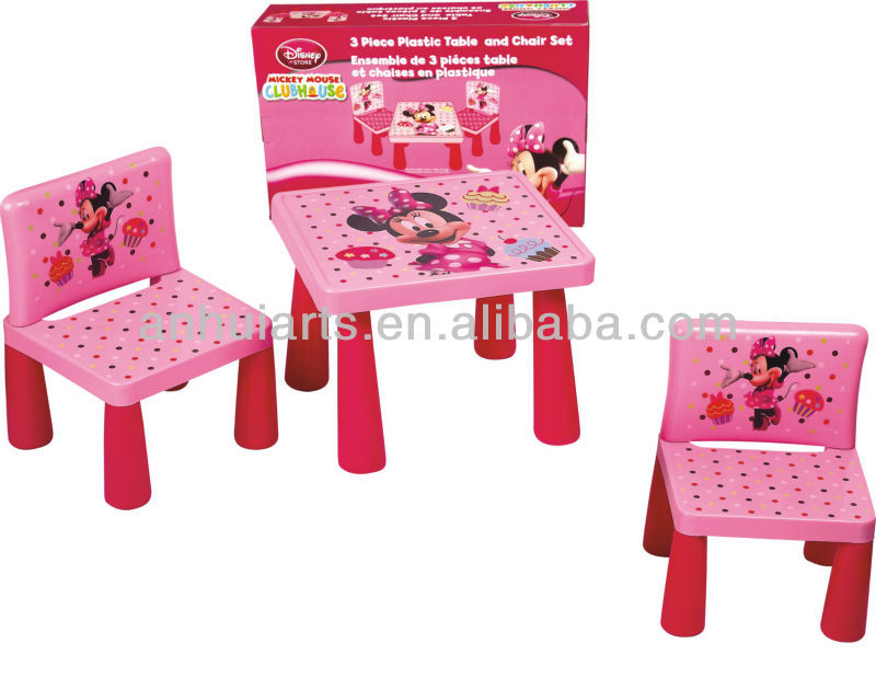 Disney plastic kids table and chair set