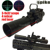 SPIKE super Useful Scope 3-9x32eg Red&green Reticle Rifle Scope+ Green Dot Laser Sight Tactical Power Scope +Tactical Red Laser