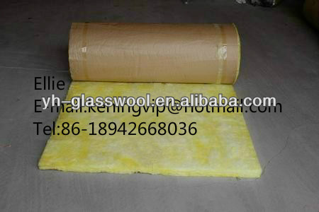 Glasswool Blanket Kraft paper facing on one side 14kg/m3 density