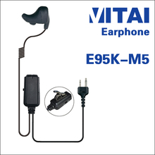 VITAI E95K-M5 Bone Conduction Type Bone Conduction Handy Talky Earpiece Suitable for GP-328 GP-338 DP-340