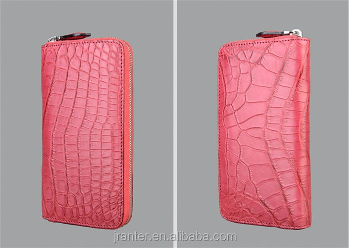 2016 Fashion women leather wallet high quality crocodile leather luxury wallet for women