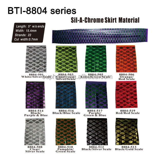 bait material silicon jig skirts BTI-8804-501~519 Silicone Skirt