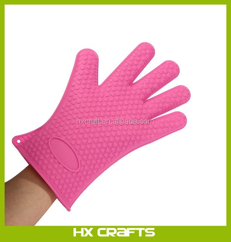 Kitchen Heat Resistant Silicone Glove Oven Pot Holder Baking BBQ Cooking Mitts