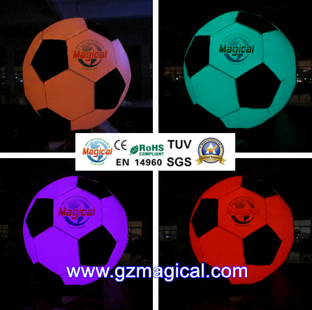 hanging decoration football inflatable LED light balloon