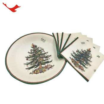 wholesale party disposable tableware sets paper part christmas paper towels tableware party set supplies themes photos