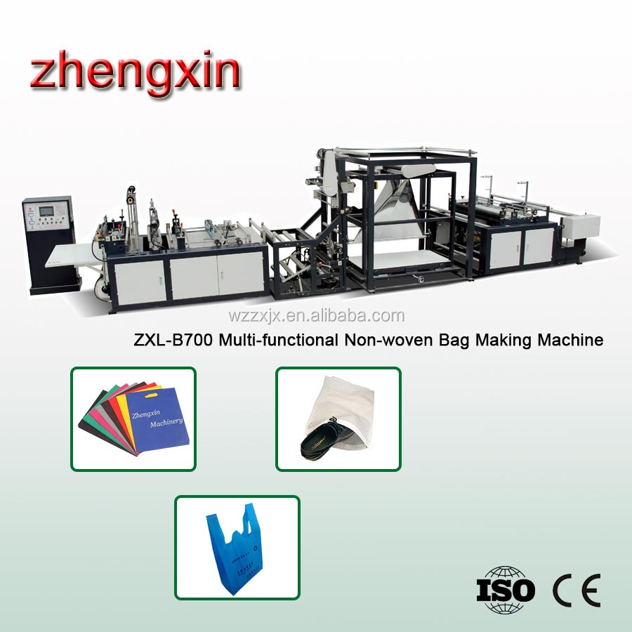 Good quality Professional Eco non woven D-cut bag Non-woven Bag making Machine