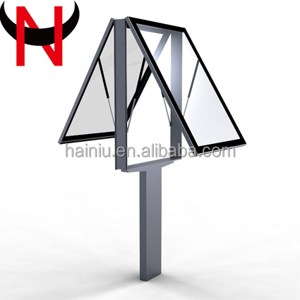 Mupi Standing Scrolling Led Advertising Vertical Signboard Light Box