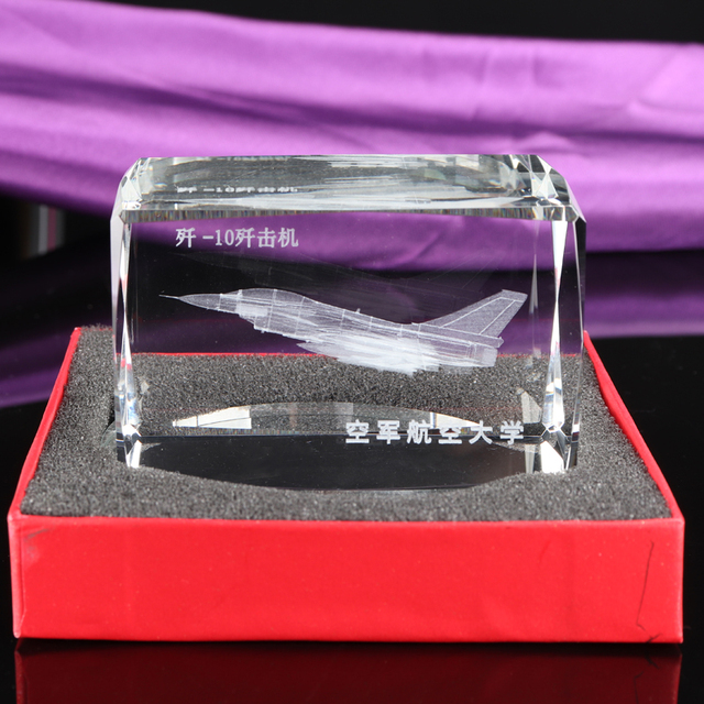 3D Laser Engraved crystal machine photo 3d plane photos