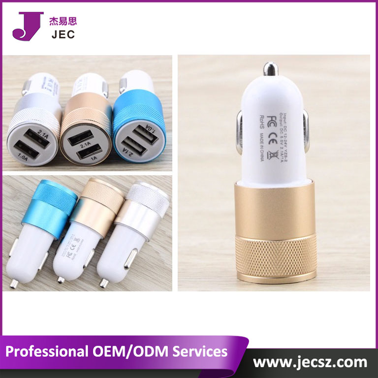 100% Quantity USB Dual Car charger Model JEC-<strong>C018</strong>