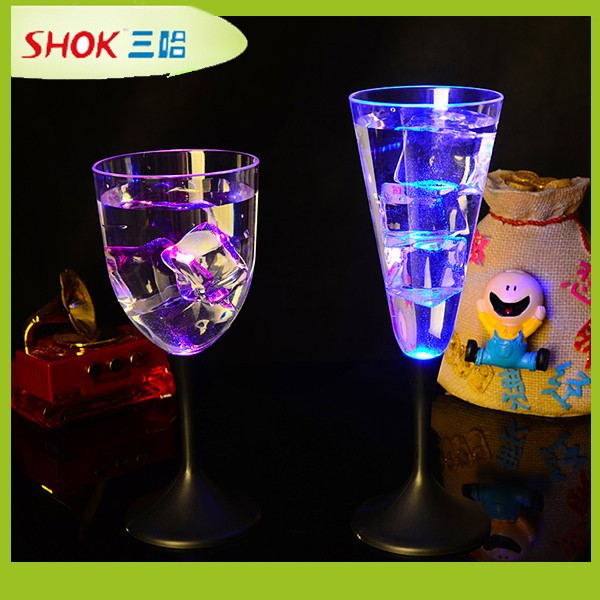 Custom colorful led flashing plastic cup, Champagne Cup