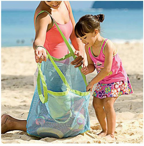Hot sale stylish hanging bag kids toys storage bag beach toys set mesh bag machine