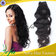 Supply hot sale real unprocessed straight hair extension for white people