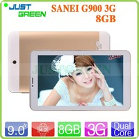9 inch SANEI G900 3G Tablet PC MT6572 Dual Core 1.4GHz 512MB RAM 8GB ROM Android 4.2 2.0MP+2.0MP OTG GPS Bluetooth Phone Call