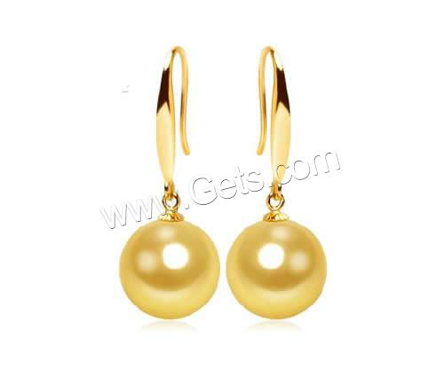 Natural Akoya Cultured Pearl earring women jewelry 18K gold new 2016 latest gold earring designs