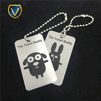 Wholesale custom aluminum made metal logo printed luggage tags charms