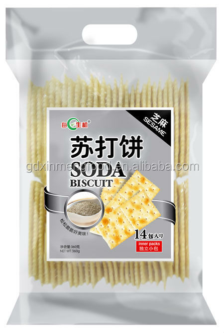 White Sesame Crackers Soda Biscuits