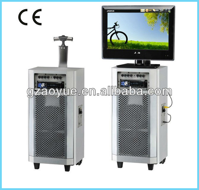 rechargeable portable speaker&tv speaker built-in DVD LCD player battery speaker