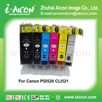 Compatible ink cartridge for Canon PGI-520BK CLI-521B/C/M/Y/GY