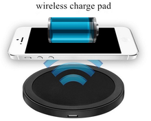 Universal Mini Wireless Charging Pad Good Quality Round Wireless Mobile Phone Charger for Samsung Galaxy S2