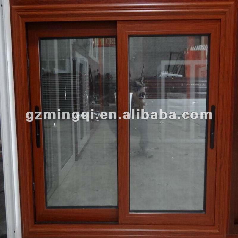 Marco de la ventana corredera de aluminio en color madera for Marcos de ventanas de aluminio