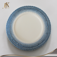 High quality charger plate lace charger plate ceramic plate dishes