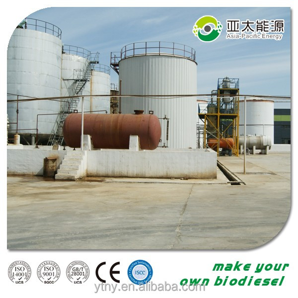 Continuous energy saving used cooking oil making biodiesel processor for sale