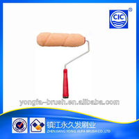 paint roller plastic handle 5wries pink polyester roller sleeve