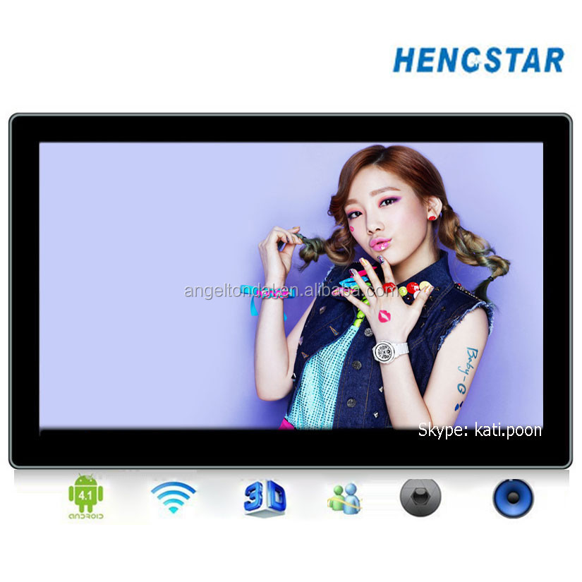 15.6'' Plastic Android 4.4 LED Monitor, 4core A9 1.6G, 15.6 inch touch screen