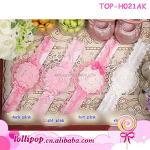 Top quality sweet flower whlesale lace making baby headbands