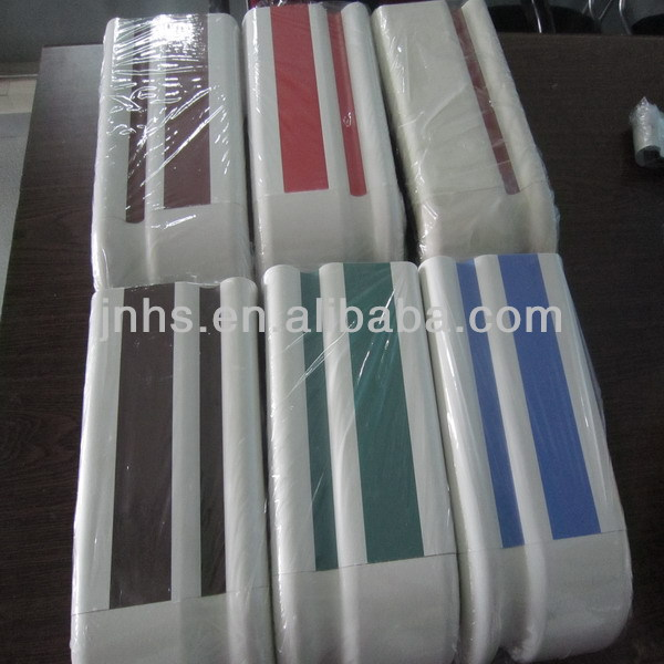 double-strip color pvc protect aluminum wall handrail in hospital
