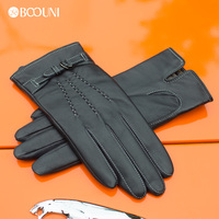 Custom Classic Women Winter Leather Gloves from Chinese Manufacturer
