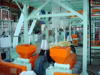 ABA double screw extruder machine,plastic film making machine,three layer ABA film extruder