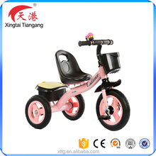 High quality baby tricycle toddler trike kids three cycle with basket CE certification