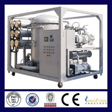 Hot sale mineral vacuum transformer oil purifier with double stage filtration ZJA