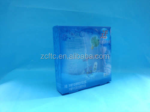 Blue plastic cosmetic display box,clear display cases