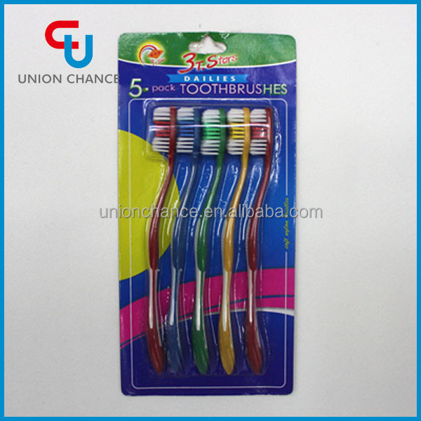 5 Color All Rubber Bristle Toothbrush